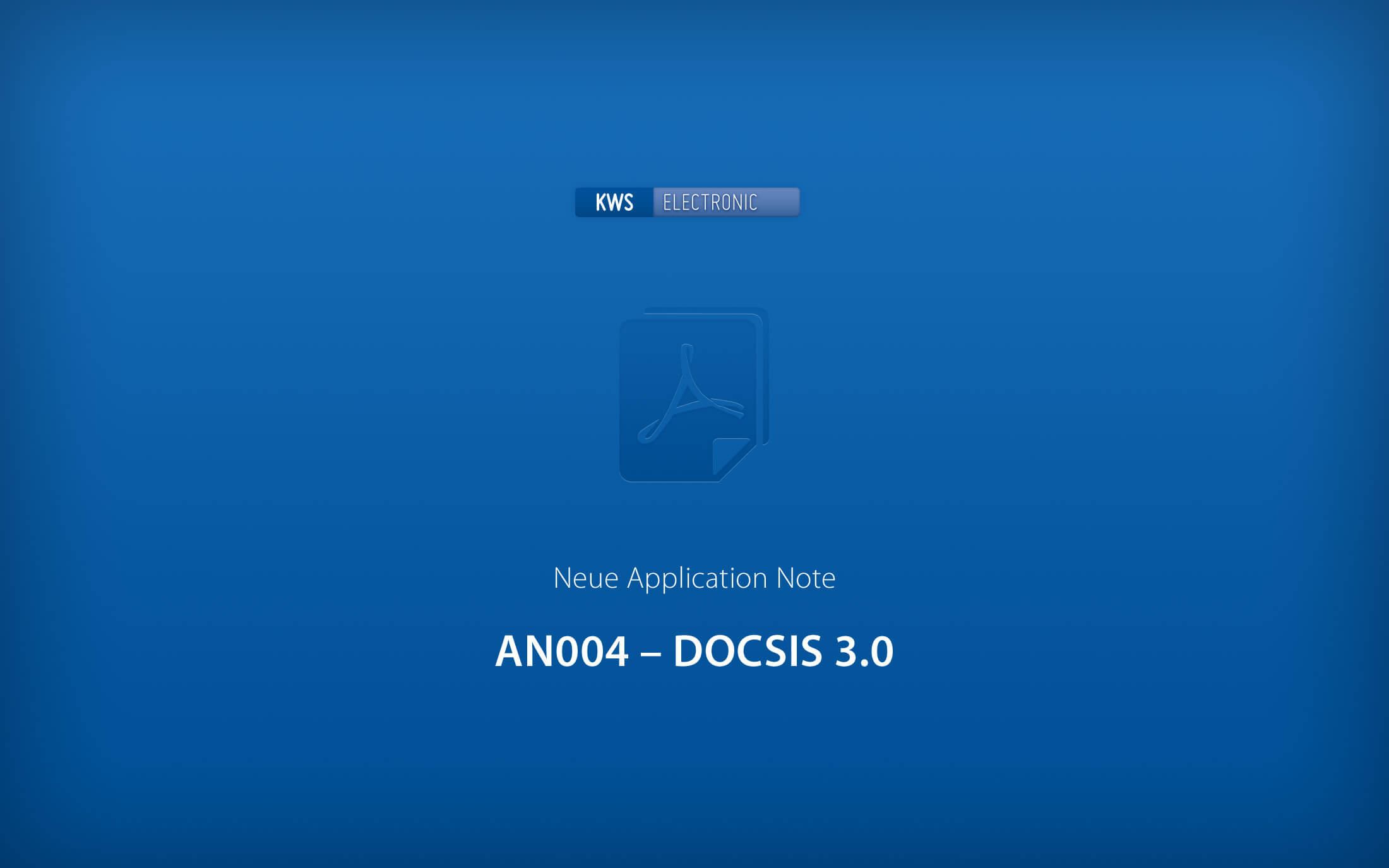 KWS-Electronic: Application Note DOCSIS 3.0