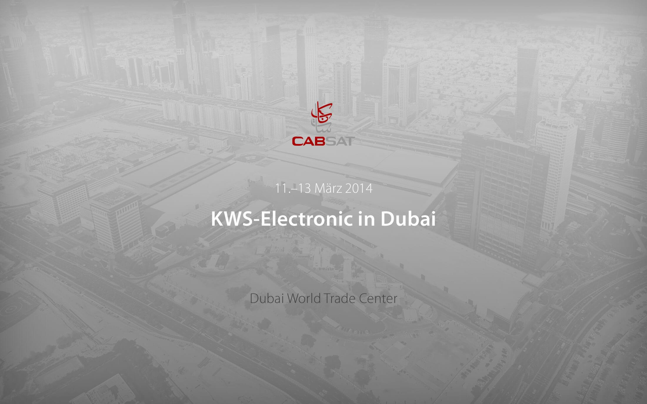 KWS-Electronic auf der CABSAT 2014 in Dubai