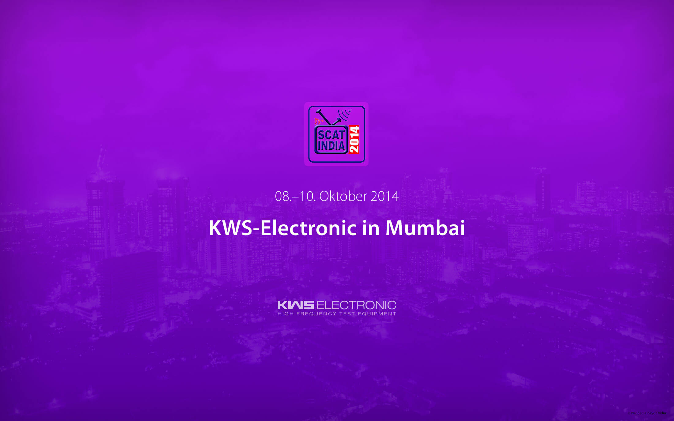 KWS-Electronic auf der SCAT India 2014 in Mumbai